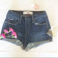 Hollister • High Rise Shorts Great pair of high rise short shorts. Excellent condition. I love them so much, I'm not sure I want to sell them! Accept offers, encourage them, but do not trade. I would be happy to make a discounted bundle with any other items in my closet. Just let me know! Hollister Jeans