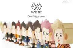 "EXO - 150617 SMTown Global twitter update: ""#EXO PAPER TOY COMING SOON"" Credit: SMTown Global."