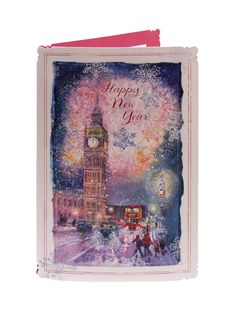 Bright Lights Of London New Year Card