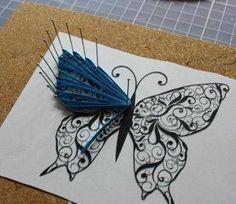 Как сделать бабочку, с помощью квиллинга, своими руками?