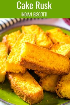 Cake Rusk are in the Indian version of Italian Biscotti and are a favourite tea time snack across India and Pakistan. Learn how to make cake rusk with my step by step guide…it's super easy! Rice Cake Recipes, Best Dessert Recipes, Tea Recipes, Appetizer Recipes, Delicious Desserts, Breakfast Recipes, Snack Recipes, Cookie Recipes, Appetizers