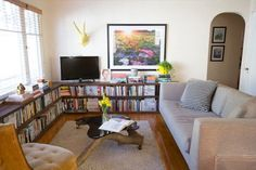 Alexis & Brooks' Charming West Hollywood Apartment DIY bookshelf