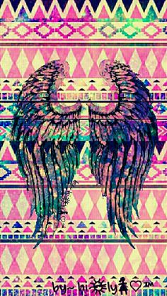 Fallen Angel tribal galaxy wallpaper I created for the app CocoPPa.