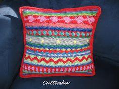 Cattinka: Mixed Stripey CAL: Pillow
