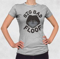 Little dogs have the biggest voices and attitudes! - Big Bad Floof shirt - Black pomeranian small dog tee