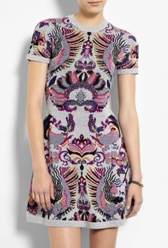 head over heels in love with this Griffin Jacquard Flirty Knit Dress by McQ Alexander McQueen from My-Wardrobe