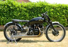 """Built by a Vincent employee who went on to become the company's development manager, this Black Lightning <a href=""""http://www.historics.co.uk/buying/auctions/2013-08-31/car/1950-vincent-black-lightning.aspx?p=&searched=1"""" target=""""_blank"""">was sold by Historics at Brooklands for GBP£65,000 ($100,740) in August, 2013</a>"""