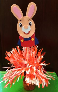 Harry The Bunny from Baby First TV centerpiece  by GioviPartyDecor, $15.00