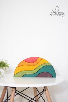 The Rainbow Crescent Bird Toys, Imaginative Play, Bookshelves, Rainbow, Early Bird, Room, Crafts, Montessori, Inspiration
