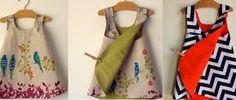 Infantil: vestidinho envelope -- com esquema de modelagem de 1 mês a 10 anos <3