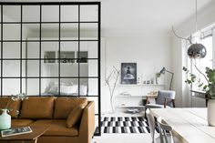 Studio apartment with glass wall