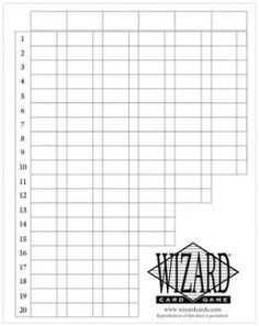 Wizard 174 Oversized Scorepads For Free Printable Score