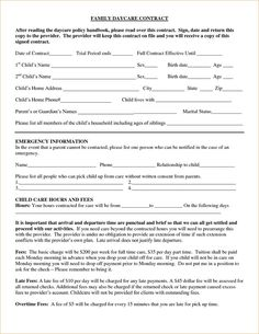Enrollment Form Template Word Entrancing 290 Best Daycare Ideas Images On Pinterest  Classroom Decor .