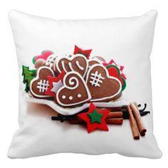 Yummy Christmas Cookies Throw Pillow
