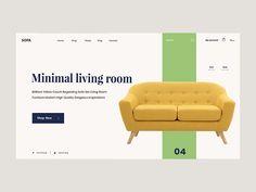 Sofa Furniture Web UI Concept