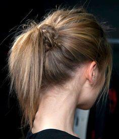 weekend hair: THE KNOT PONYTAIL - bellaMUMMA