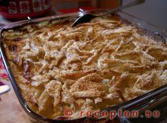 Janssons Frestelse. Jansson's temptation - typical Swedish potato dish for any holiday. Love love love!