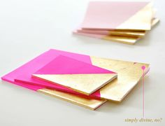 Neon and gold leaf notebooks - SCAD element?