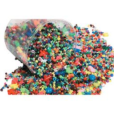 School Smart Bucket of Beads and Sizes, 3 lbs (need 2)