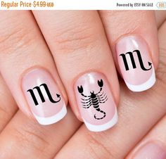 25% OFF Free Shipping  30 SCORPIO Nail Art ZSC by NorthofSalem