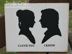 Star Wars Han Solo and Princess Leia <3 (made with Silhouette)