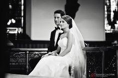 Jennifer Childress Photography | Wedding | Atrium at the Curtis Center | Philadelphia, PA | Loews Hotel | Cescaphe Events Group | Beautiful Blooms | Cheekadee | Bride and Groom | Ceremony     www.jennchildress.com