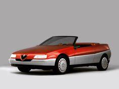 1986 Alfa Romeo Vivace Coupe and Spider (Pininfarina) - Studios Alfa Romeo Spider, Alfa Romeo Gtv, Alfa Romeo Cars, Alfa Cars, Retro, Car Pictures, Concept Cars, Dream Cars, Funny
