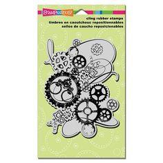 Stampendous Clockworks stamp