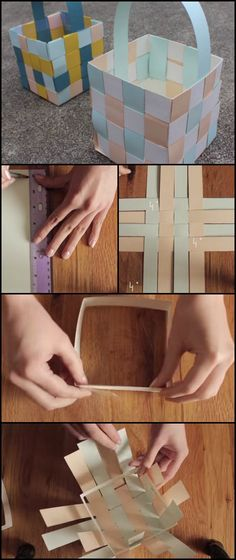 Easter is just a few weeks away which means it's the perfect time to look for creative holiday crafts to try!  Now here's an easy paper crafts activity for this season which is also great project to start with if you are interested in the art of making baskets. :)  http://craft.ideas2live4.com/2016/03/02/woven-paper-easter-baskets/  Do you need a basket for the Easter egg hunt?