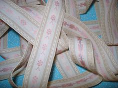 Your place to buy and sell all things handmade Band, Pastel Pink, Pink Flowers, Nursery Decor, Sewing Projects, Ribbon, Cream, Crafts, Etsy