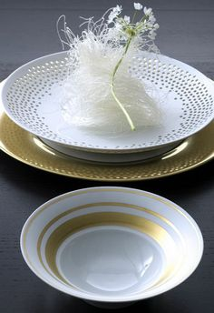 Hering Berlin Cielo perforated bowls Dinnerware | Artedona.com
