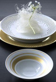 Hering Berlin Cielo perforated bowls Dinnerware   Artedona.com