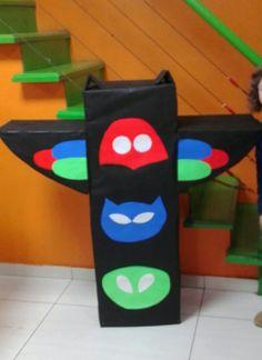 Enfant PJ Masques Cadeau Papier d/'emballage et les étiquettes x 2 Nouveau Fête D/'Anniversaire Cadeau Garçon Fille