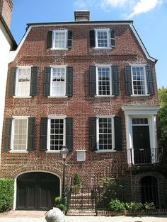 "72 Tradd Street, Charleston, SC c. 1774. I have read a book called ""A house on Tradd Street""......it was most enjoyable. I do not remember the name of the author, but the book was about a Haunted house.The house on the cover was white with Federal columns....."
