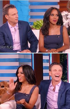Kerry Washington and Tony Goldwyn, And also the Cast of Scandal on Ellen Show March, Olivia And Fitz, My Beauty, Beauty Ideas, Tony Goldwyn, Olivia Pope, Kerry Washington, Hot Couples, Together Forever, Woman Crush