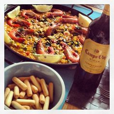 This paella was made by me, inspired by Spain #tastingspain