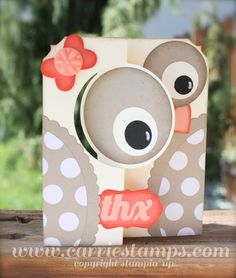 THis is just too cute... Circle Thinlits Owl Card by Carrie Rhoades