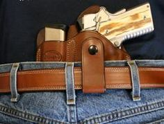 """Texas Conceal Carry"" for 1911 3"" w/ Belt Loop LH-SR"