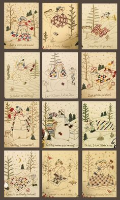 Quilting Snowladies Complete Set