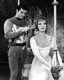 Robert Goulet and Julie Andrews in Camelot