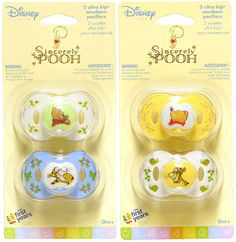 Disney Sincerely WINNIE THE POOH Baby Pacifiers 0+Mo 2pk The First Years NEW! #Disney