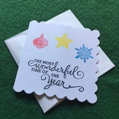 """Most Wonderful Time of the Year"" Christmas Holiday Gift Tag Set of 3"