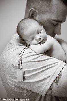 military newborn photo