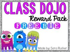If you have never heard of Class Dojo, you definitely need to check it out NOW!https://www.classdojo.comIt is my #1 go-to for classroom management! I am a Class Dojo Mentor, so if you have any questions about this wonderful resource, please feel free to email me at sara.rucker@live.com :)Included in this FREEBIE:- Class Dojo Rewards Poster (this is what I use in my class)- BLANK Class Dojo Rewards Poster so you can add your own choice of rewards (laminate and use a dry erase marker if you…