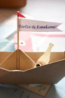 row row row your boat centerpiece with a small boat and oar