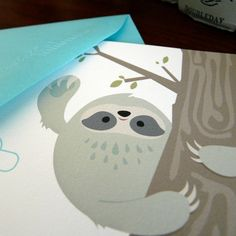 Send A Smile Note Cards : Sloth