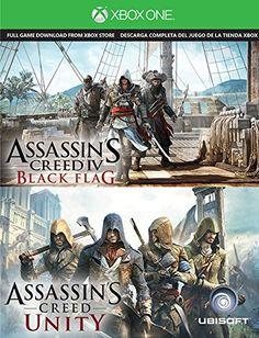 Assassin's Creed IV Black Flag & Assassin's Creed Unity Digital [Xbox One] Download Card 2 Game Bundle - http://www.rekomande.com/assassins-creed-iv-black-flag-assassins-creed-unity-digital-xbox-one-download-card-2-game-bundle/