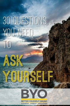 30 Questions You Need to Ask Yourself - Here are 30 questions that, if you answer honestly, will allow you to identify what it is that you're supposed to be doing and and will keep you motivated to achieve it. Achieve Success, Career Education, 30th, My Life, This Or That Questions, Motivation, Lifestyle, Movie Posters, Successful People
