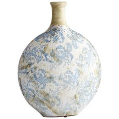 Cyan Design Large Isela Vase Isela Inch Tall Terracotta Vase Blue and White Home Decor Accents Vases Blue And White Vase, White Vases, Candle Holder Decor, Blue Home Decor, Filigree Design, Terracotta, Modern Contemporary, Framed Artwork