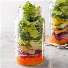DIY Salad in a Jar Recipe -
